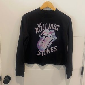 Long sleeve crop top Rolling Stones size large